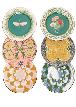 Росписные тарелки Libellula от La DoubleJ